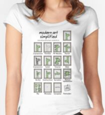 modern art simplified Women's Fitted Scoop T-Shirt
