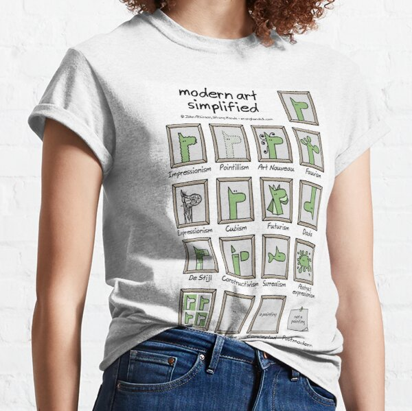 modern art simplified Classic T-Shirt