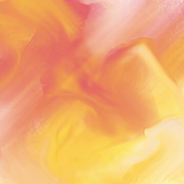 Abstract Yellow and Peach Duvet Cover by webeller