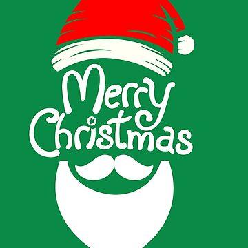 Christmas  Santa Claus beard and hat  by MNA-Art