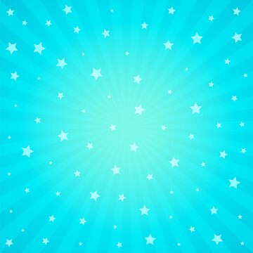 Blue Background with Stars and Rays Throw Pillow by webeller
