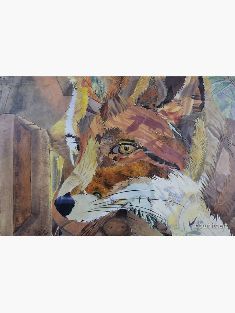Fox Art Collage by C.E. White by cewhiteart
