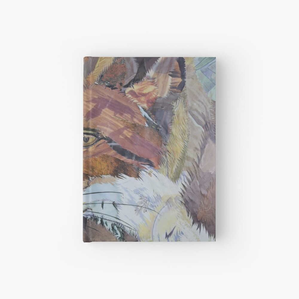 Fox Art Collage by C.E. White Hardcover Journal