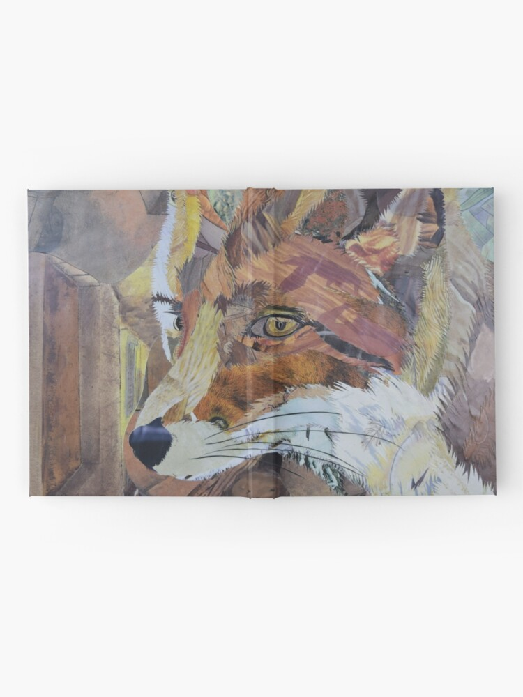 Alternate view of Fox Art Collage by C.E. White Hardcover Journal