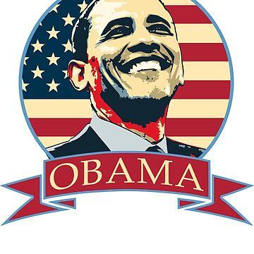 Obama American Banner by idaspark