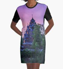 Delightful Russian evening Graphic T-Shirt Dress
