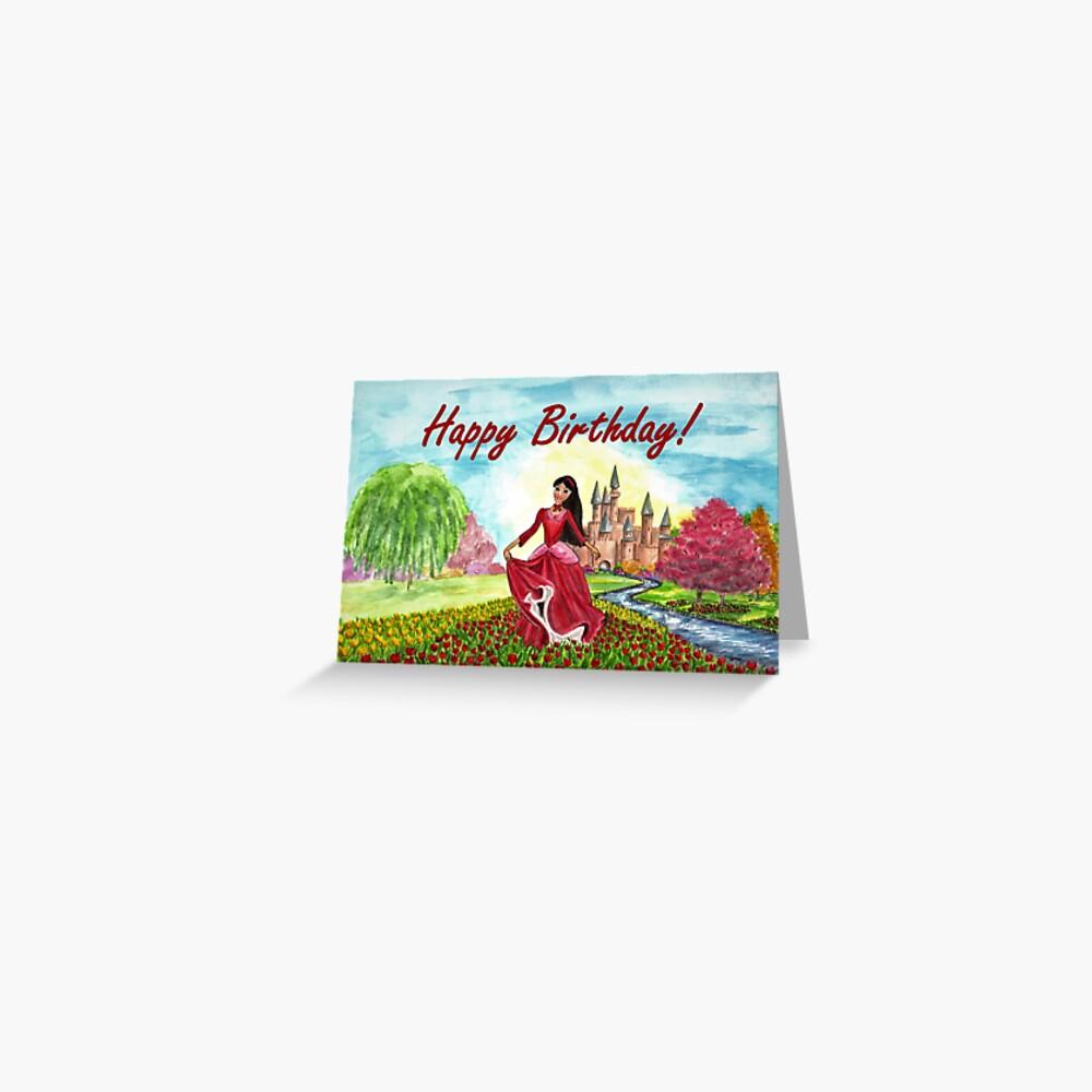 Princess Birthday Card Greeting Card