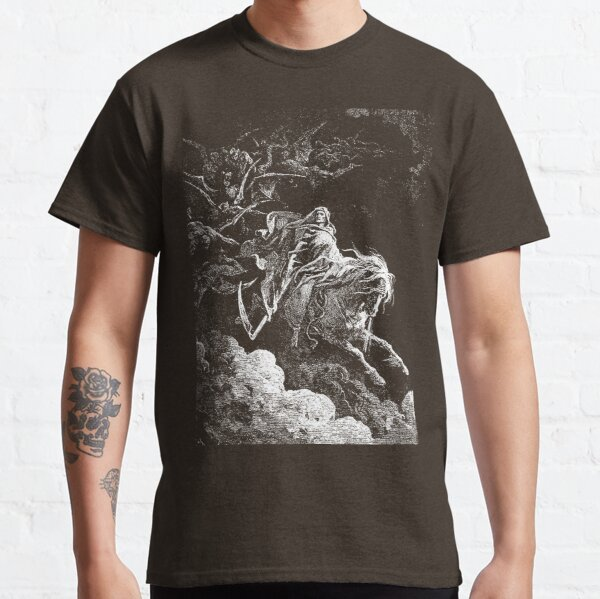 Death on the Pale Horse, Gustave Dore, 1865, Revelations, Seven Seals. Classic T-Shirt