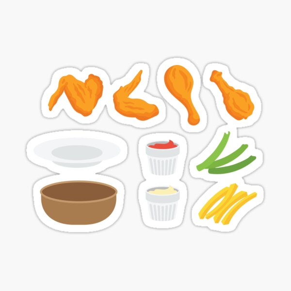 Wings and Dips Sticker
