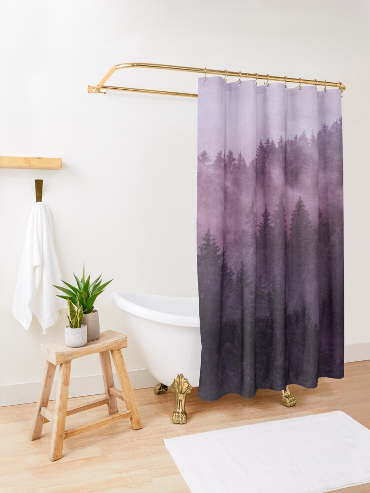 Alternate view of Excuse Me, I'm Lost // Laid Back Edit Shower Curtain