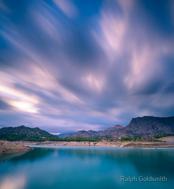 Big sky over the water long exposure by Ralph Goldsmith