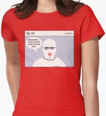 """""""Op"""" Ed Comic strip - Two Sides Women's Fitted T-Shirt"""