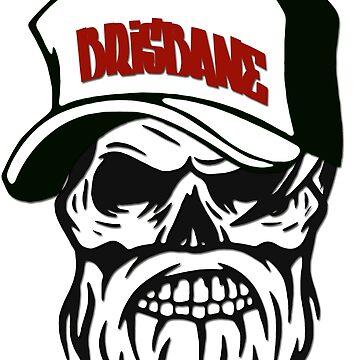 Brisbane Australia Hometown Hipster Skull Trucker Cap Death by lemmy666