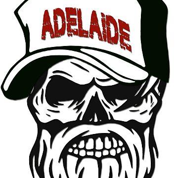 Adelaide Australia Hometown Hipster Skull Trucker Cap Death by lemmy666