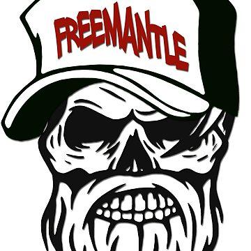 Freemantle Australia Hometown Hipster Skull Trucker Cap Death by lemmy666