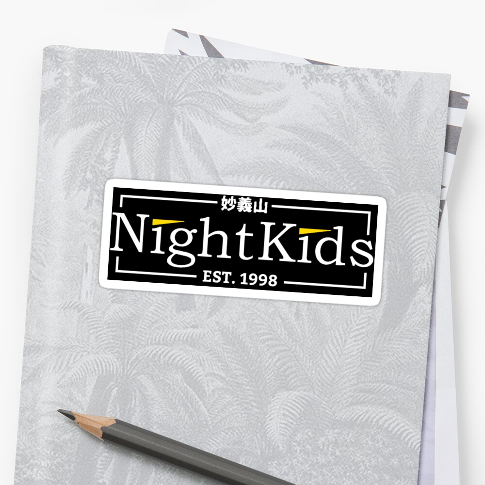 Night Kids Traditional Team Sticker 216mm by HighAcademia
