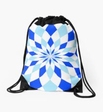 Geomatric Blue Drawstring Bag