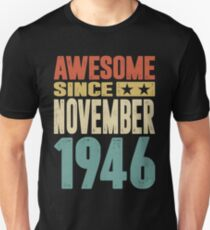 Born in November 1946 Slim Fit T-Shirt