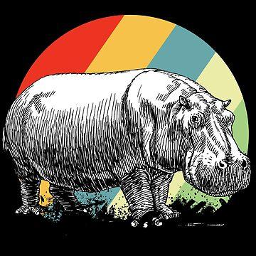 Hippopotamus safari by GeschenkIdee