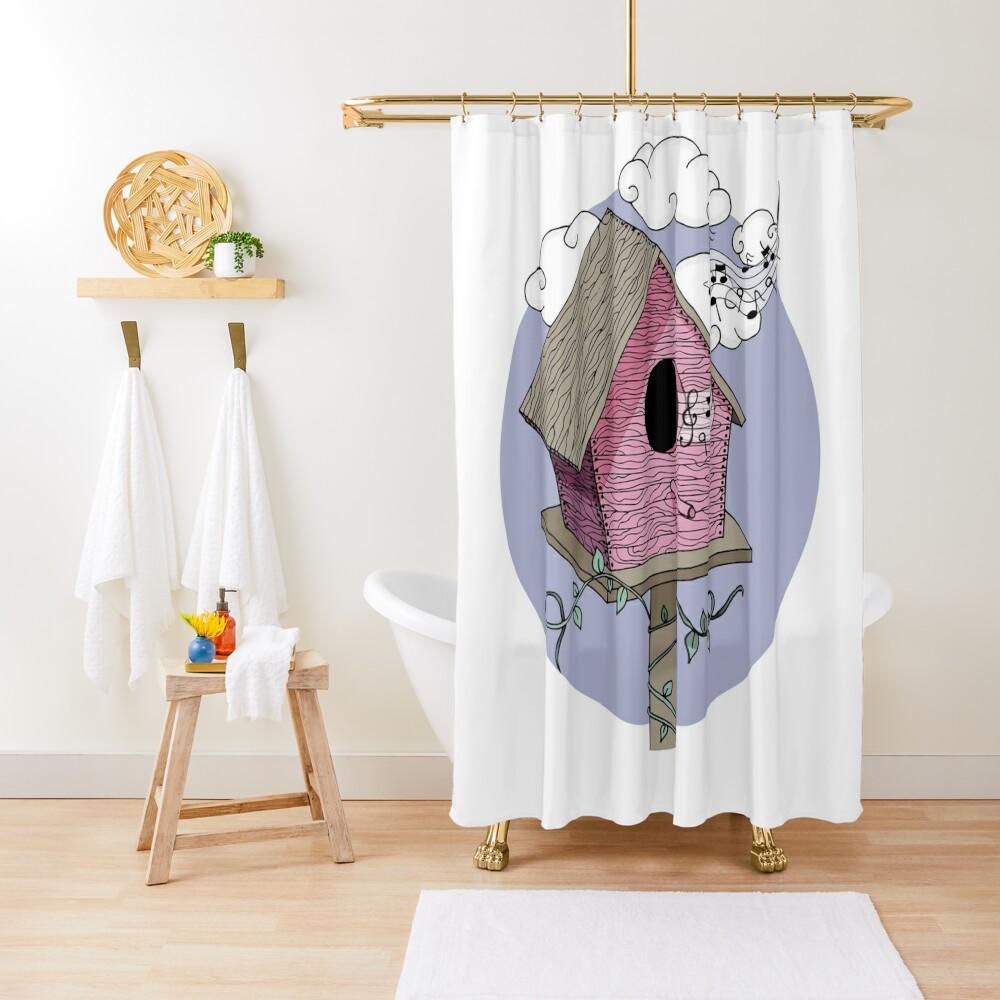 Bird's house: The Singer Shower Curtain