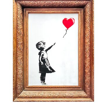 Cool Banksy Girl with Balloon Stencil Political Brexit Protest Graffiti Women Men Gift Summer Holiday Clothes T-Shirt by legologo