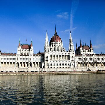 Eastern Europe, Hungary, Budapest, Parliament Building as seen from the Danube river   by PhotoStock-Isra