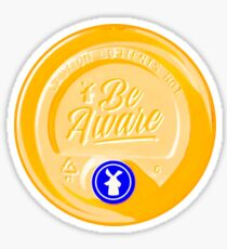 Yellow lid Dutch bros coffee be aware Sticker