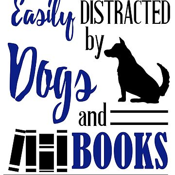 Funny Book Lovers Librarian Dog Reading Reader Nerd by kh123856
