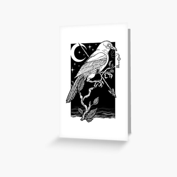 Night Crow Greeting Card