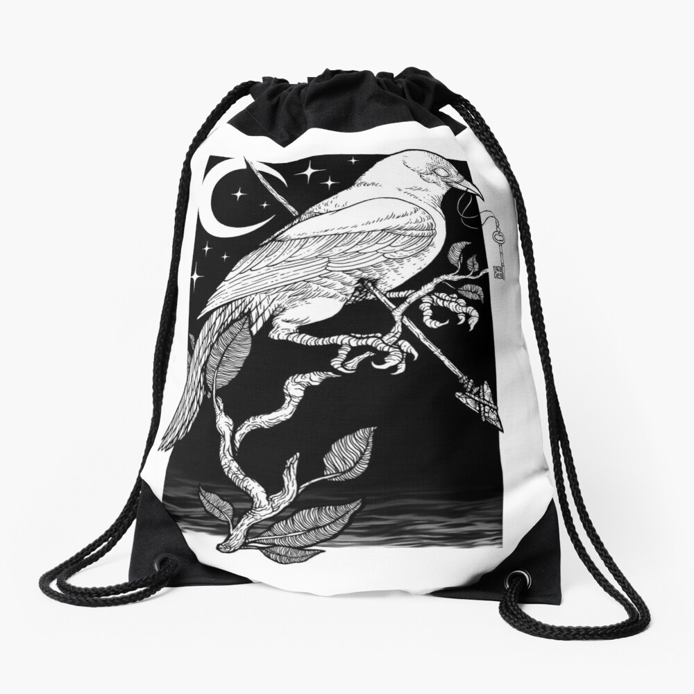 Noche cuervo Mochila saco