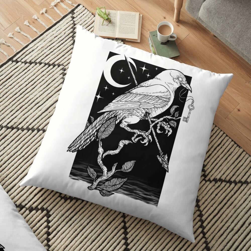 Noche cuervo Cojines de suelo