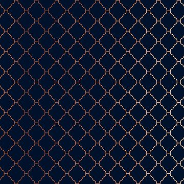 Navy blue and copper seamless pattern by hellcom