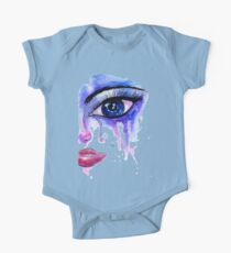 Painted Stylized Face One Piece - Short Sleeve