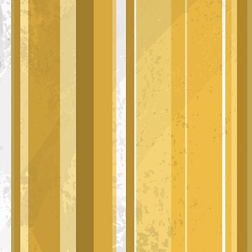 Yellow and White Retro Stripe Pattern by ImagineThatNYC