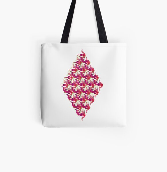 Fuchsia Tesselation All Over Print Tote Bag