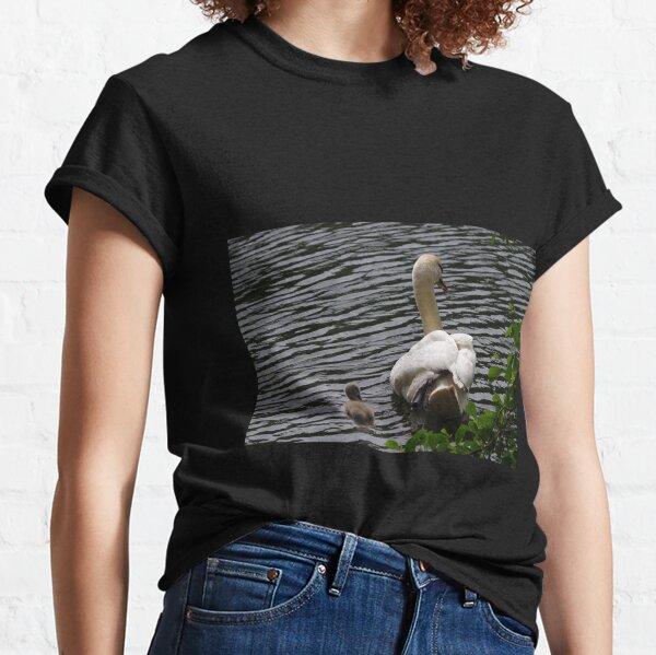 Mute Swan and Cygnet  Classic T-Shirt
