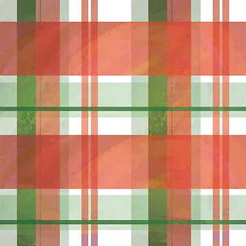 Madras Plaid Christmas Stripes by ImagineThatNYC