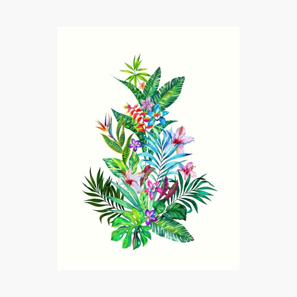 Tropisches Fest Kunstdruck