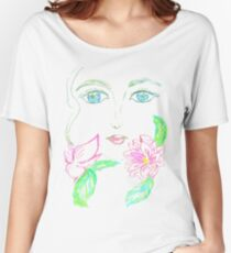Painted Stylized Face 3 Women's Relaxed Fit T-Shirt