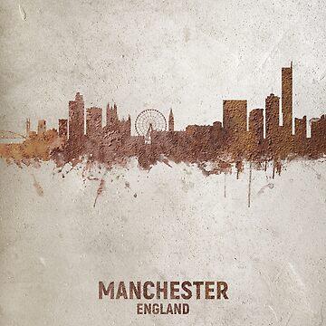 Manchester England Rust Skyline by ArtPrints