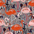 Flamingos  by TigaTiga