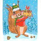 « Écureuil Noël » par cindybarillet