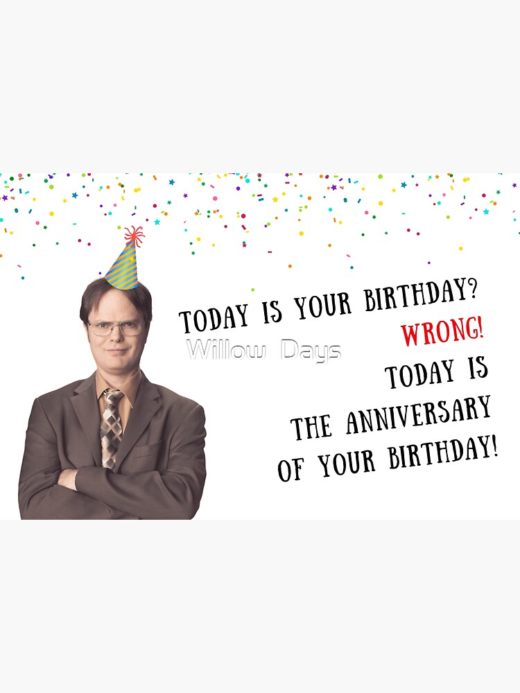 Dwight K Schrute card, The Office US birthday card, meme greeting cards by avit1