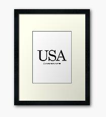 USA United States of America Coordinates Artwork Longitude & Latitude Framed Print