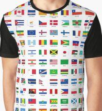 Camiseta gráfica Banderas del mundo