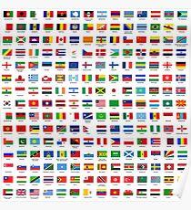 Weltflaggen Poster