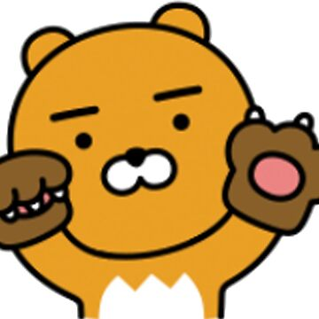 KakaoTalk Friends Hello! Ryan - Bear Claw Hands (카카오톡 라이언) by icdeadpixels