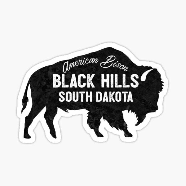 Black Hills South Dakota American Bison Buffalo  Sticker