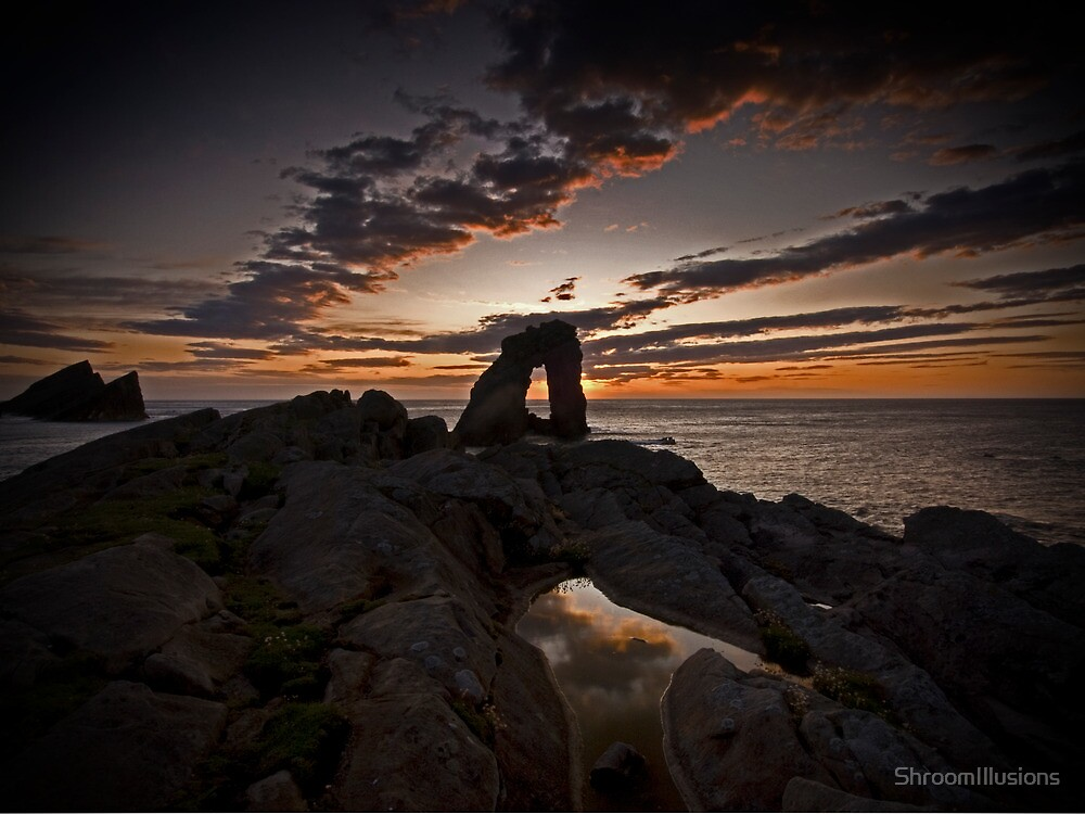 Sunset, Gaarda Stack, Foula by ShroomIllusions