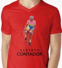 Alberto Mens V-Neck T-Shirt